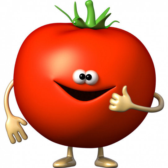 Stickers effet 3D- Tomate