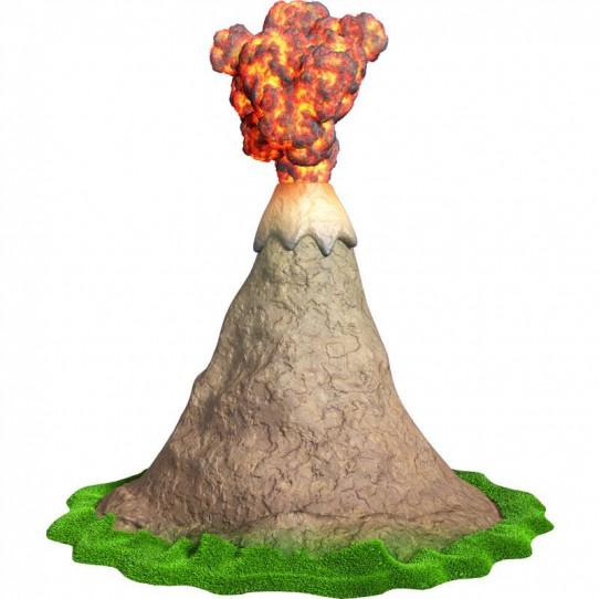 Stickers effet 3D- Volcan