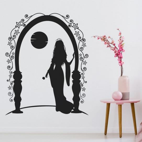Stickers femme orientale