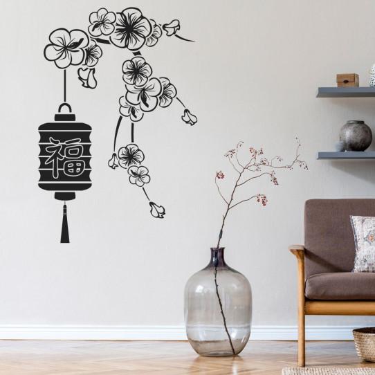 Stickers fleur asie
