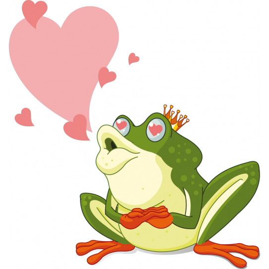 Stickers grenouille amoureuse