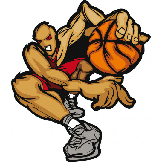 Stickers joueur basketball