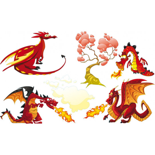 Stickers kit 4 dragons