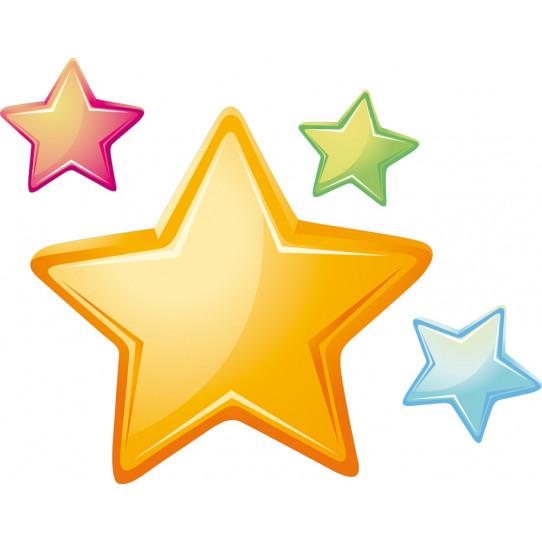 Stickers kit 4 étoiles