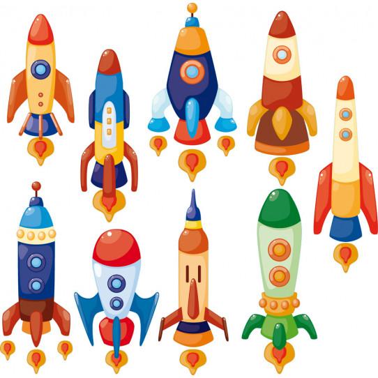 Stickers kit 9 fusées