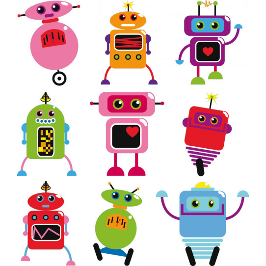 Stickers kit 9 robots