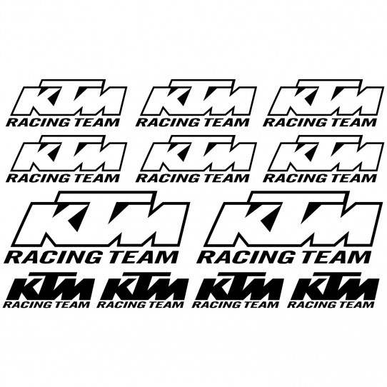 Stickers ktm racing team