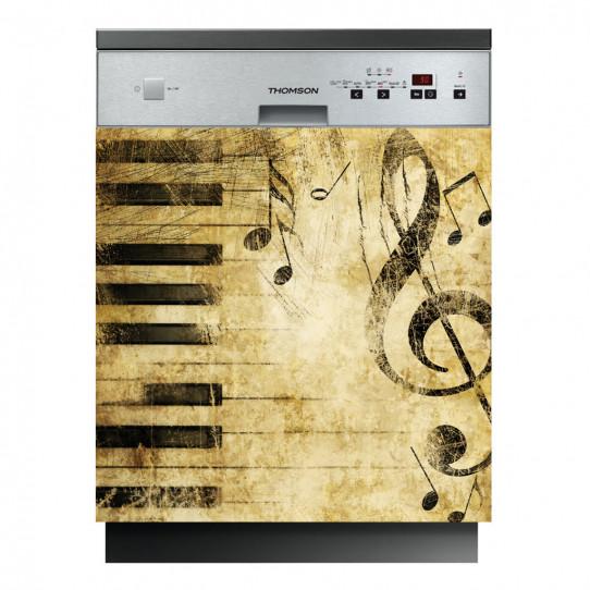 Stickers lave vaisselle note musique