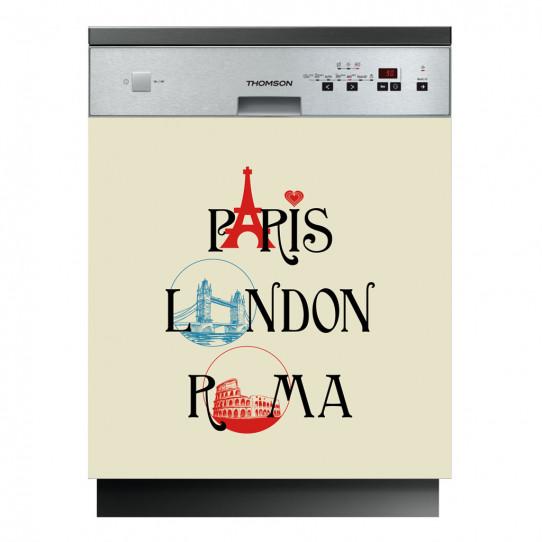Stickers lave vaisselle Paris London