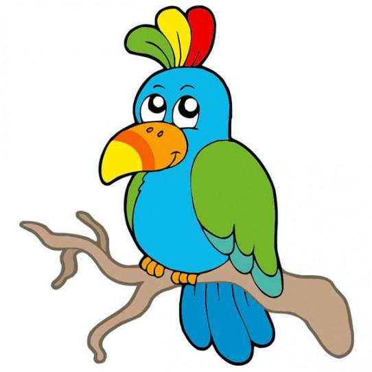 Stickers Oiseau Coloré