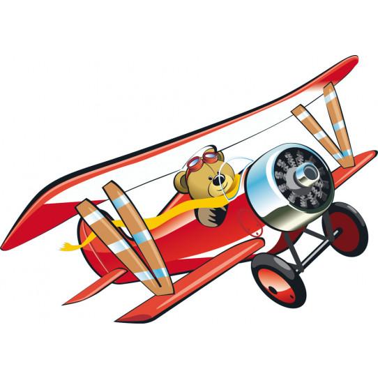 Stickers ourson avion