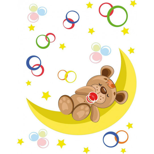Stickers ourson dormeur