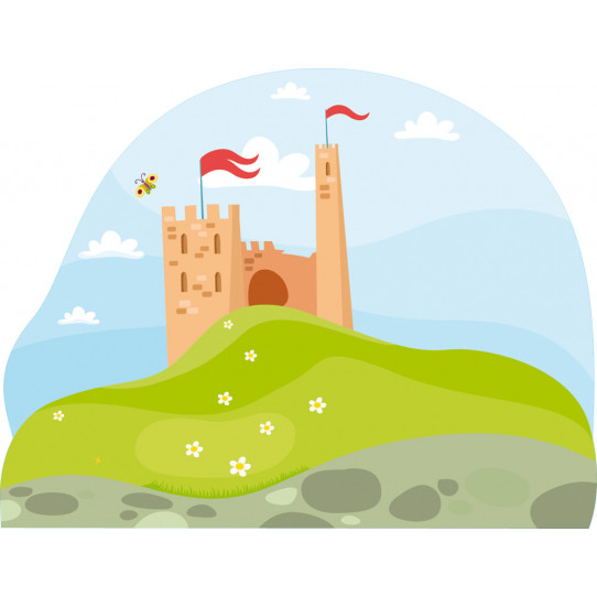 Stickers paysage château