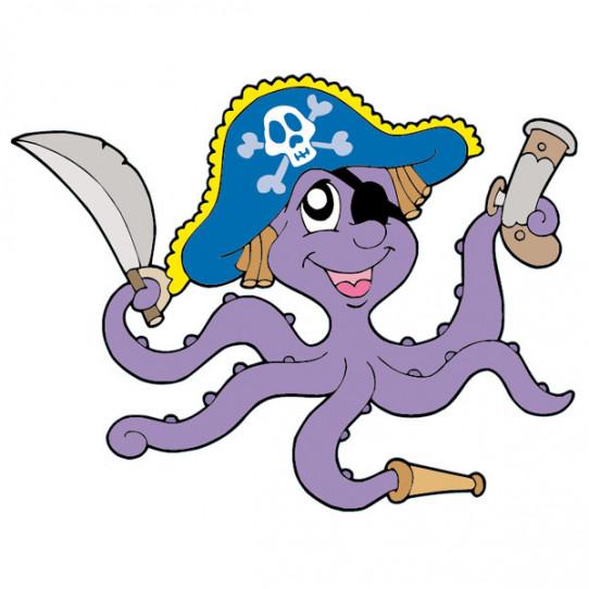 Stickers Pieuvre Pirate