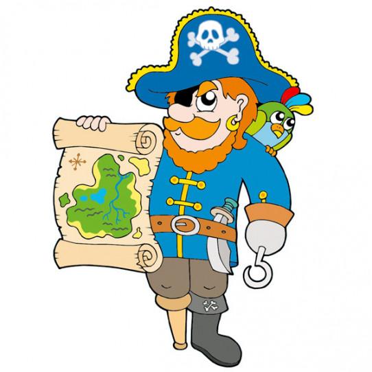 Stickers Pirate Parchemin