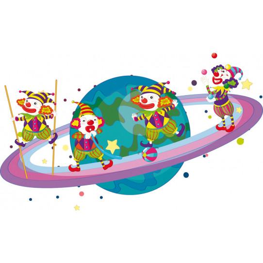 Stickers planète clowns