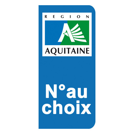 Stickers Plaque Aquitaine