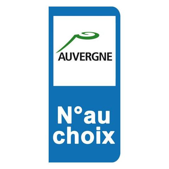 Stickers Plaque Auvergne