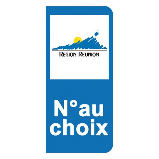 Stickers Plaque La Réunion