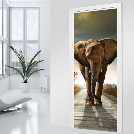 Stickers Porte Elephant 2