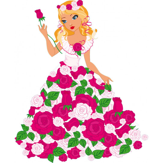 Stickers princesse fleur
