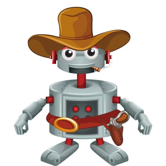 Stickers robot cowboy