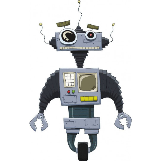 Stickers robot radio