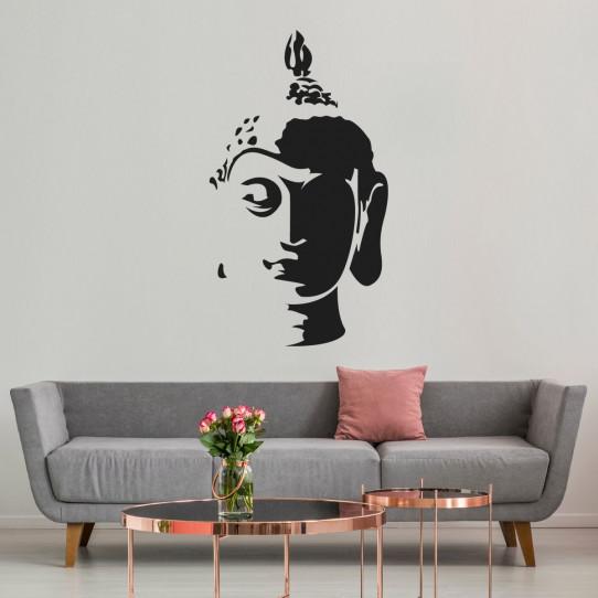 Stickers tête de bouddha