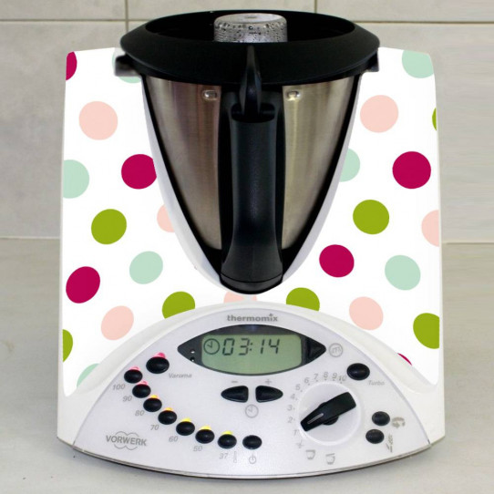 Stickers Thermomix TM 31 Pois Multicolores 3