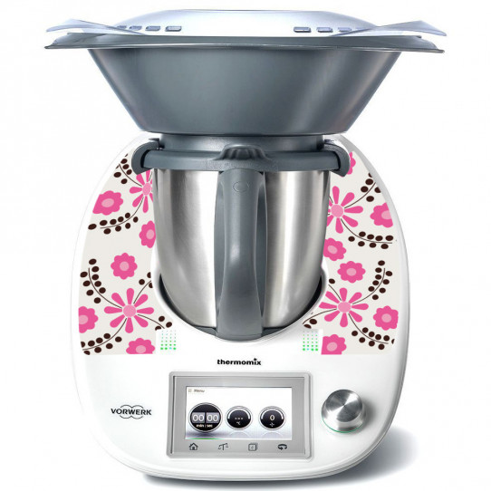 Stickers Thermomix TM 5 Flowers Pink