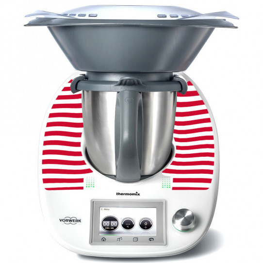 Stickers Thermomix TM 5 Rayé rouge 3