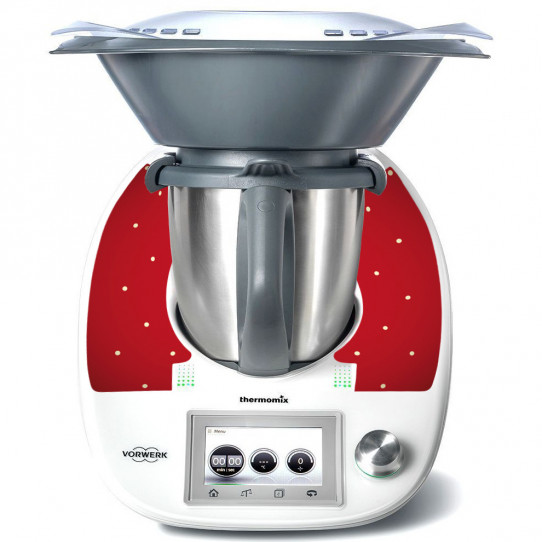 Stickers Thermomix TM 5 Rouge a poins