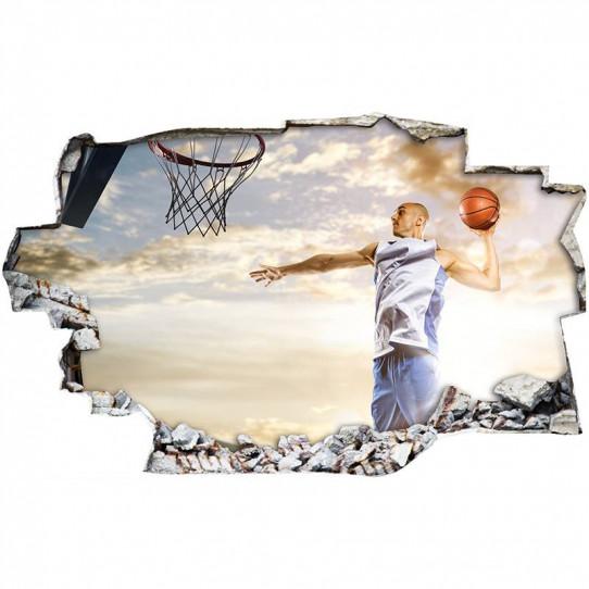 Stickers Trompe l'oeil 3D - Basket 3