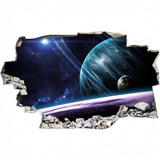 Stickers Trompe l'oeil 3D - Espace 11