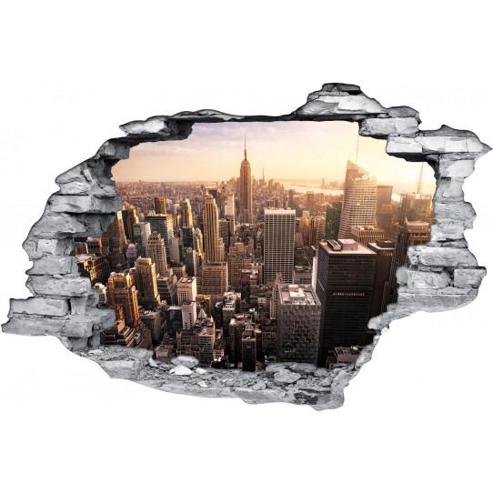Stickers Trompe l'oeil 3D New York 2