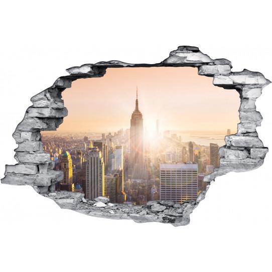 Stickers Trompe l'oeil 3D New York 3
